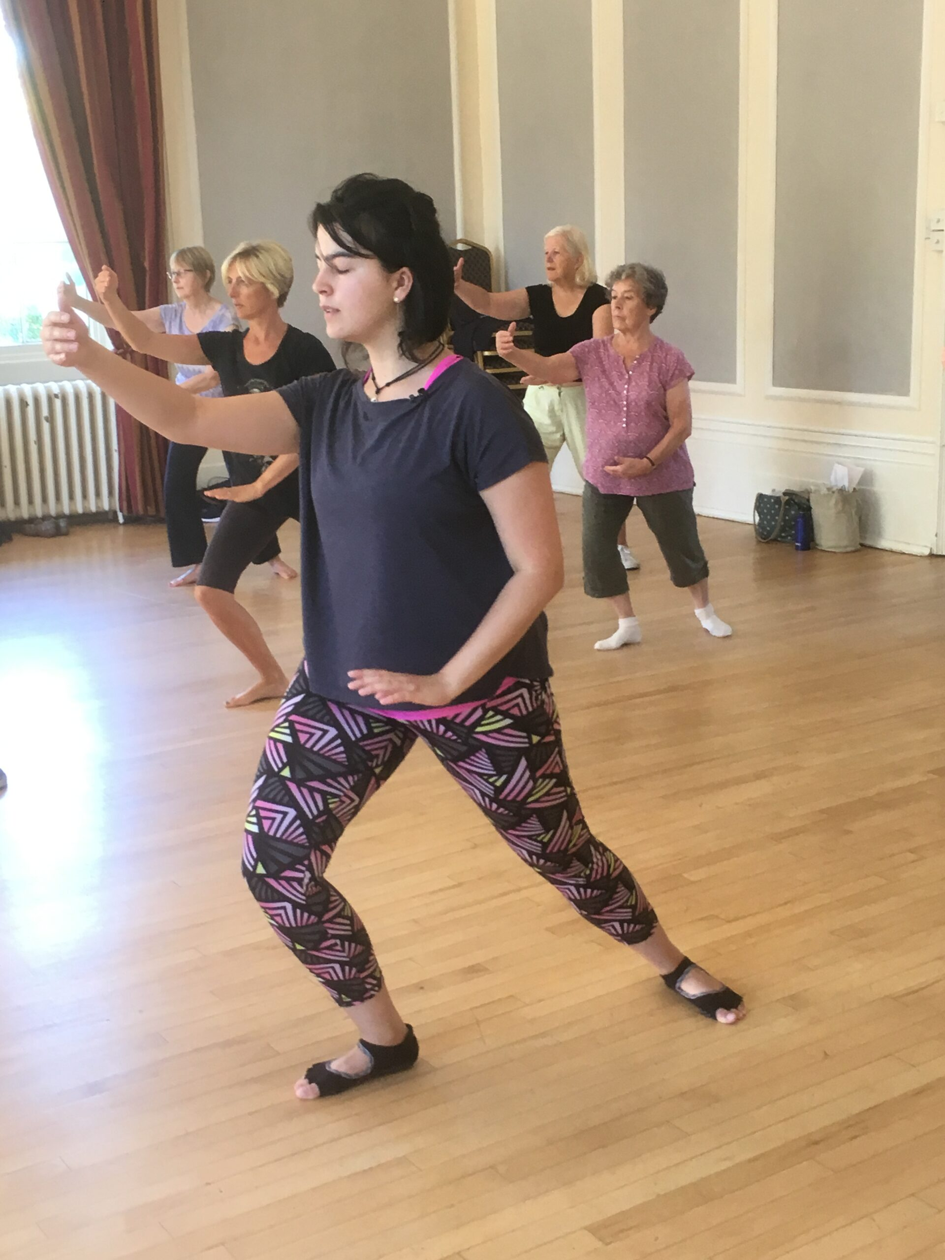Gabi teaching in Leamingston